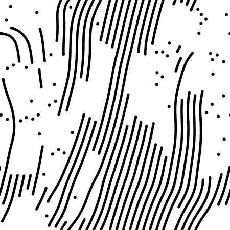 white  background: Abstract background of vector organic irregular lines maze pattern. Black and white chaotic design Illustration