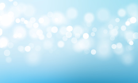 Blue light glitter effect vector background of sparkling premium luxury shimmering bokeh effect of clear sky or water surface texture