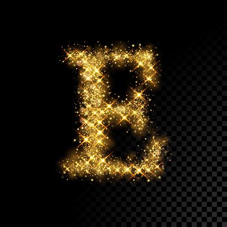 黒地にゴールドのきらびやかな文字 E