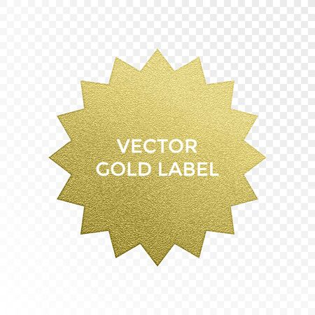 gold textured background: Vector gold label star multi point golden glitter texture vector isolated icon