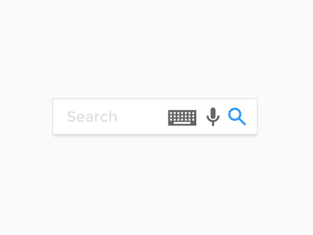 internet search: Search bar web page internet browser element vector icons template Illustration