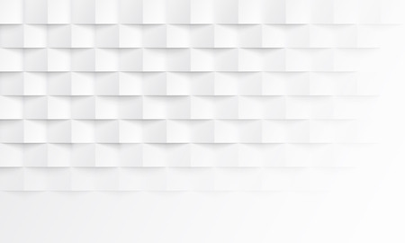 Abstract white background with brick shadow texture. Vector geometric backdrop illustration for horizontal template layout design of presentation, banner, landing, flyer