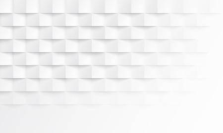 Abstrato branco com textura de sombra de tijolo. Ilustração de pano de fundo geométrico vetorial para design de layout modelo horizontal de apresentação, banner, desembarque, panfleto