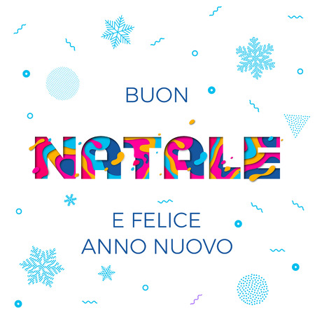 Buon Natale Merry Christmas And Felice Anno Nuovo Happy New Year ...