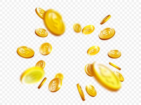 Gold coin splash design