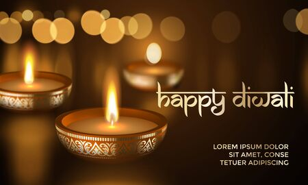 Happy diwali indian greeting card for traditional festival of 86636431 happy diwali indian deepavali hindu festival of lights holiday greeting card template vector gold candle light flame in golden blur premium m4hsunfo