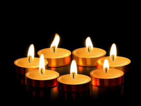 Kerzenlicht Oder Goldene Kerzen Dekoration Der Brennenden