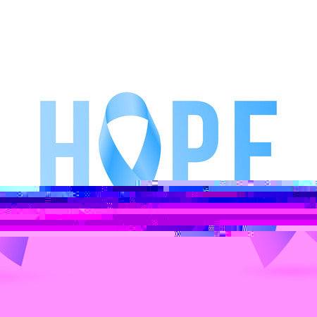 Welp Blue Ribbon Hope Symbol For Prostate Cancer Vector. Royalty Free NZ-29