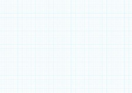 Zeichnen Sie Papierhintergrund mit der blauen Millimeter-Machthaberlinie Leitergitterbeschaffenheit des Vektors für das Konstruieren oder den mechanischen Zeichnungsplan auf. Kariertes A4-Notizbuch, Copybook-Hintergrund