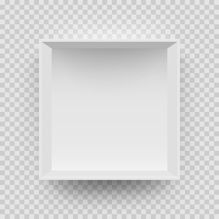 Empty White Box Mock Up Model 3D Top View With Shadow. Vector.. Royalty Free Cliparts, Vectors, And Stock Illustration. Image 89878758.