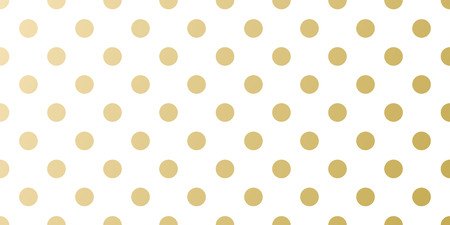 Christmas holiday golden dotted background template for greeting card or gift wrapping paper design. Vector gold and white pattern for Christmas or New Year wrapper.
