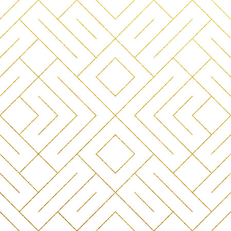 Abstract geometric golden seamless pattern background with gold glitter lines texture. Illustration