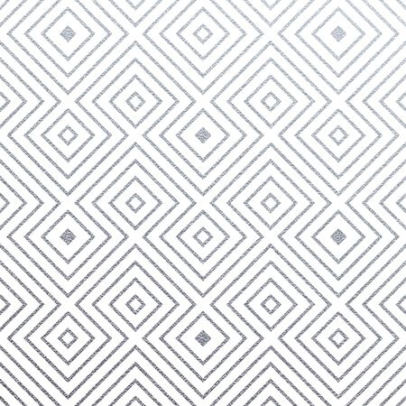 Abstract geometric silver texture trinagle pattern background of glittering ornament and seamless tile for modern design template. Vector geometry backdrop of silver glitter on white background