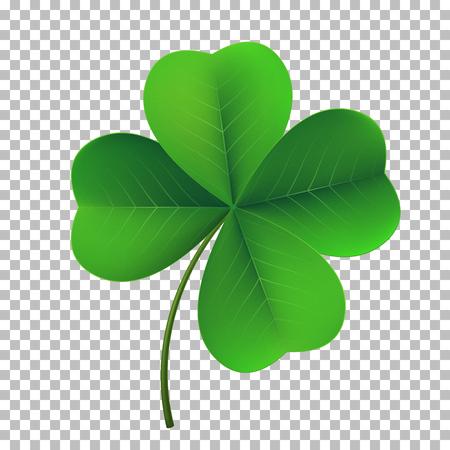 Vector four-leaf shamrock clover icon. Illustration