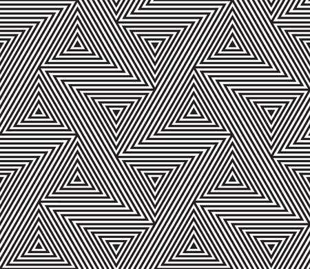 Abstract geometric pattern vector background of seamless triangle mosaic grid lines and tangle optical illusion pattern