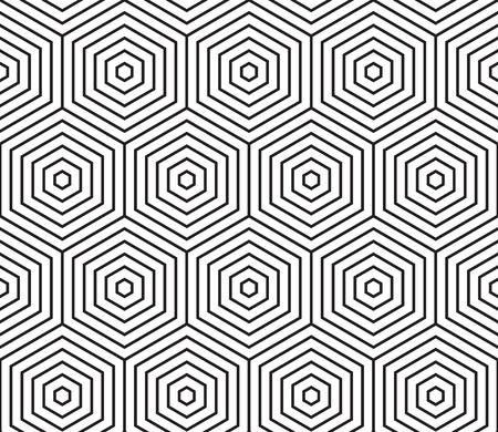 Abstrakter geometrischer Mustervektorhintergrund des nahtlosen Hexagonmosaikgitters des Bienenwabendrahtmodellmusters