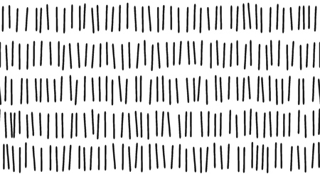 Stroke vertical line pattern background of vector seamless black abstract strokes on white Ilustracja