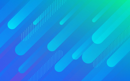 Abstract color pattern of neon blue liquid gradient lines background with modern geometric fluid shapes in dynamic motion Ilustracja
