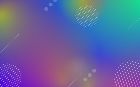 Geometric abstract colorful gradient background with dynamic circle shapes and minimal light graphic effect elements