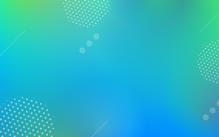 Abstract geometric gradient elements on colorful background with dynamic shapes in minimal futuristic style