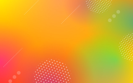 Abstract geometric gradient elements on colorful background with modern dynamic shapes in minimal or digital futuristic style