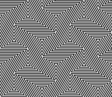 Abstract geometric pattern of seamless triangle mosaic grid lines. Illustration