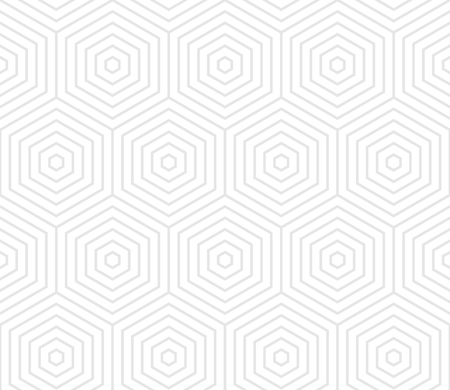 Abstract geometric pattern background of linear honeycomb texture and vector seamless hexagon grid lines