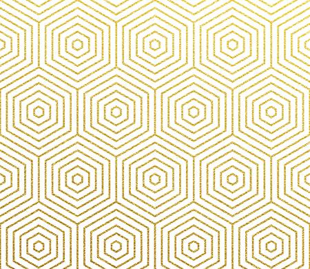 Golden geometric linear pattern background. Illustration
