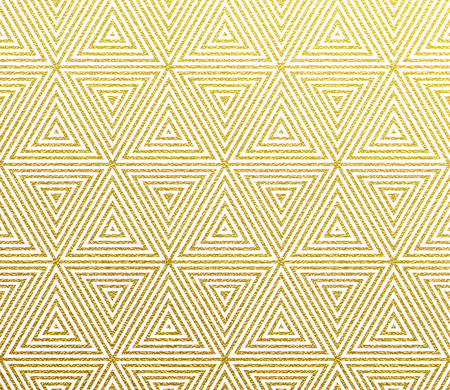 Geometric golden pattern background with abstract gold triangle lines and glittery foil texture