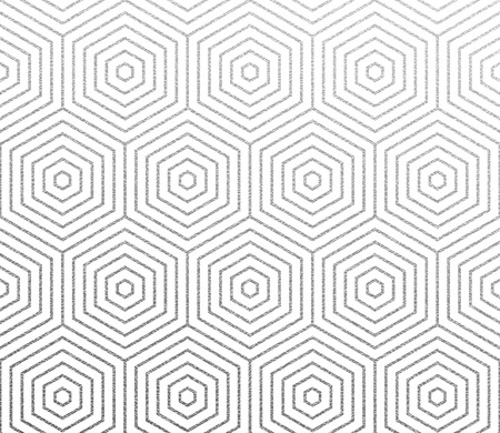 Geometric silver honeycomb or hexagon lines pattern. Illustration