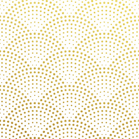 Seamless pattern vector background of glittery golden scales or fountain confetti in retro Gatsby design with art deco gold glittering dots on white
