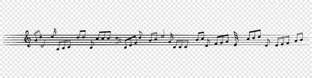 Music notes background. Illustration
