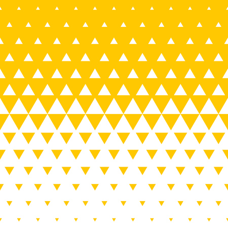Abstract yellow and white triangle halftone pattern background.