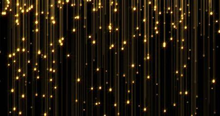 Golden rain, gold glitter particles falling Zdjęcie Seryjne