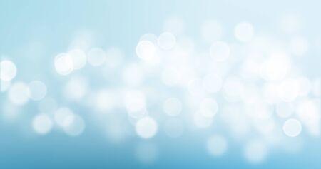 Bokeh light on blue