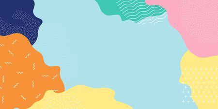 Memphis pattern background, vector abstract color splash shape design. Modern trendy Memphis pattern texture bright pop art background 向量圖像