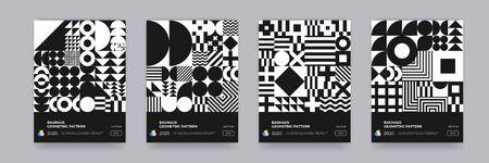Abstract Bauhaus geometric pattern