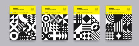 Bauhaus geometric pattern 向量圖像