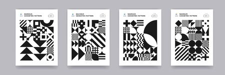Abstract geometric black and  white pattern
