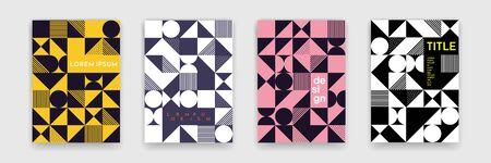 Abstract geometric shapes pattern,  minimal art design