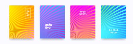 Color gradient halftone wave line pattern vector backgrounds, abstract trendy graphic design. Simple minimal wave line element pattern backgrounds in halftone color gradient