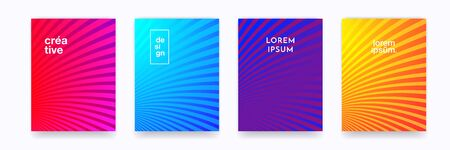 Pattern backgrounds, color gradient halftone wave line abstract trendy graphic design. Simple minimal wave line element pattern backgrounds in halftone color gradient