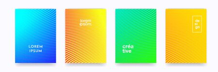 Pattern backgrounds, color gradient halftone and wave line abstract trendy minimal graphic. Simple wave line element pattern backgrounds in halftone color gradient design