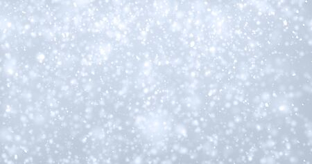 Snow flakes background, isolated transparent snowfall pattern with overlay effect. White snowflakes falling with bokeh glitter light, Christmas snow fall cold background
