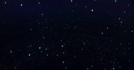 Sky stars, starry night blue starlight shine in dark space universe 版權商用圖片