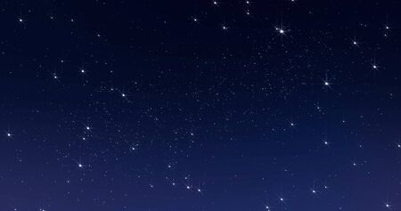 Sky stars, starry night dark blue with starlight sparkles twinkling and blinking in universe space. 版權商用圖片