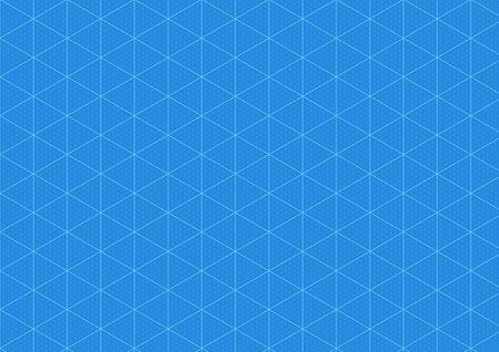 Blueprint background, graph paper blue print grid, vector