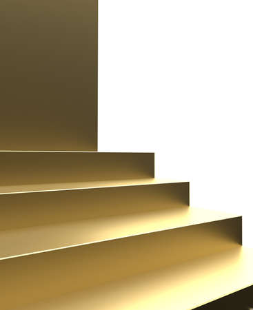 Golden stage or product display and luxury golden stand stair