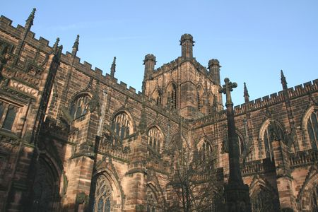 vicar: Cathedral-Chester Stock Photo
