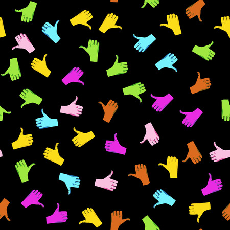 like hand: Like hand icon colorful pattern Illustration